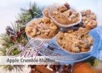 Chia Apple Crumble Muffins