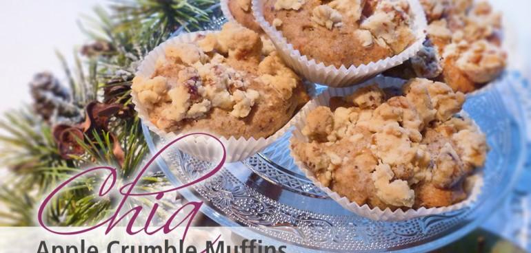 chia samen rezepte rezept chia apple crumble muffins. Black Bedroom Furniture Sets. Home Design Ideas