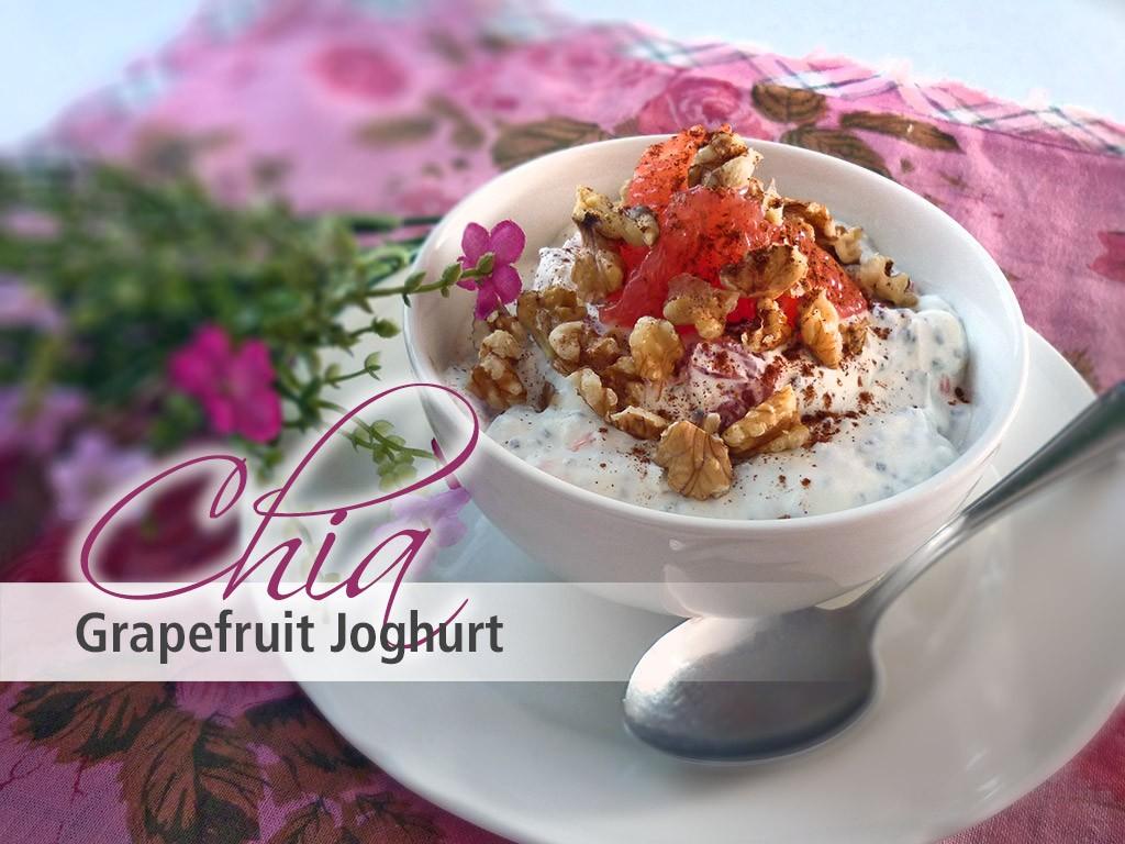 chia samen rezepte rezept chia grapefruit joghurt. Black Bedroom Furniture Sets. Home Design Ideas