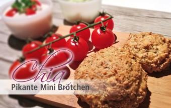 Pikante Chia Mini Brötchen