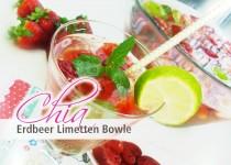 Chia Erdbeer Limetten Bowle