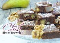Chia Birnen Brownies
