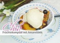 Chia Früchtekompott mit Amarettinis