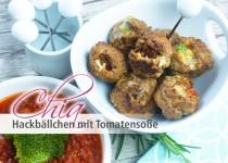 Chia Hackbällchen mit Tomatensoße