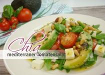 Chia mediterraner Tomatensalat