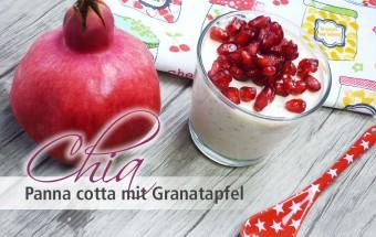 Chia Panna cotta mit Granatapfel