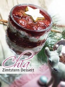 Chia Zimtstern Dessert