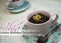 Chia Schoko-Wallnuss Tassenkuchen